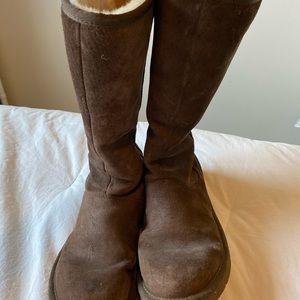 Ugg Knightsbridge Zip Boots in Chocolate Sz8